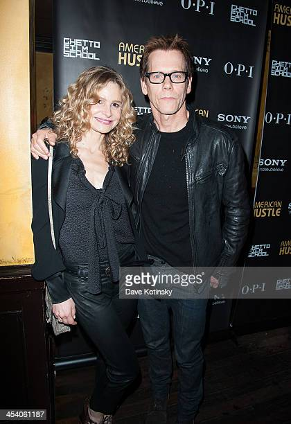 Actors Kyra Sedgwick and Kevin Bacon attend the 'American Hustle' screening after party at Monkey Bar on December 6 2013 in New York City