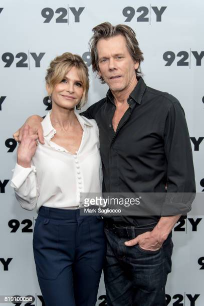 Actors Kyra Sedgwick and Kevin Bacon in Conversation at 92nd Street Y on July 19 2017 in New York City