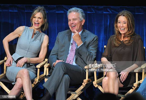 Actors Kyra Sedgwick Anthony Denison and Mary McDonnell attend The Paley Center for Media's An Evening with 'The Closer' on August 10 2011 in Beverly...