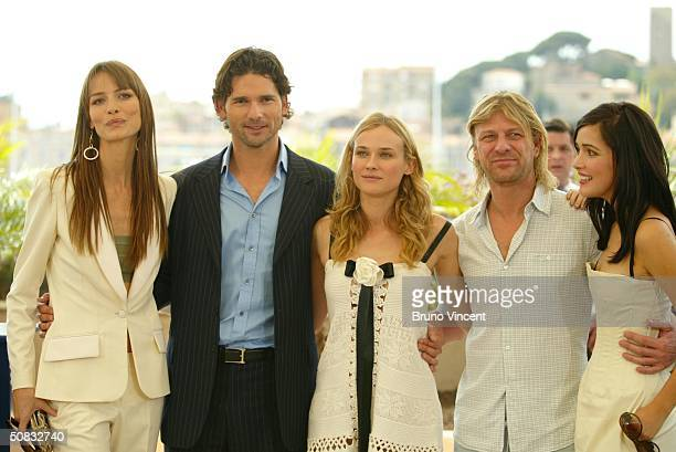 Actors L to R Saffron Burrows Eric Bana Diane Kruger Sean Bean and Rose Byrne attend the Photocall for Troy ahead of tonight's World Premiere showing...