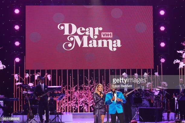 Actors La La Anthony and Anthony Anderson speaks onstage during VH1's 3rd Annual Dear Mama A Love Letter To Moms Inside Show at The Theatre at Ace...
