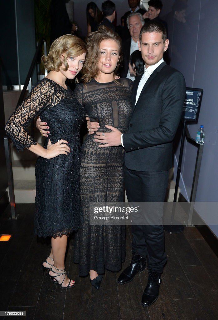 Actors Léa Seydoux, Adèle Exarchopoulos and Jeremie Laheurte attend the Interview Magazine, Sundance Selects and Mongrel Media celebrate the TIFF premiere screening of 'Blue is the Warmest Color' during 2013 Toronto International Film Festival on September 5, 2013 in Toronto, Canada.