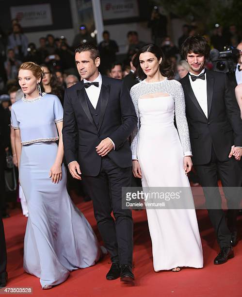 Actors Léa Seydoux Colin Farrell Rachel Weisz and Ben Whishaw attend the Lobster Premiere during the 68th annual Cannes Film Festival on May 15 2015...