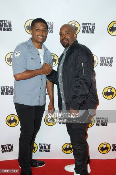 Actors Lahmard Tate and Larron Tate attend the Buffalo Wild Wings Opening In Koreatown at Buffalo Wild Wings on August 26 2017 in Los Angeles...