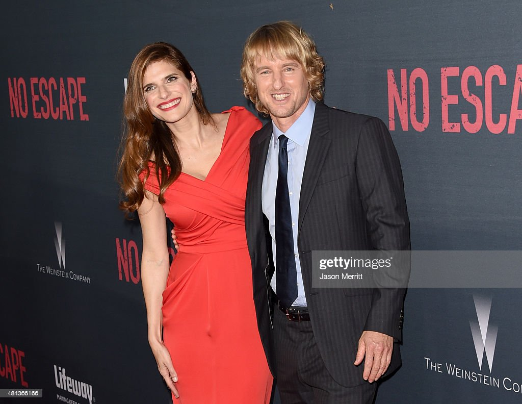 Actors Lake Bell (L) and Owen Wilson attend the premiere of the Weinstein Company's 'No Escape' at Regal Cinemas L.A. Live on August 17, 2015 in Los Angeles, California.