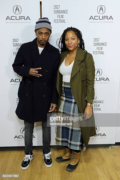 Actors LaKeith Stanfield and Natalie Paul of 'Crown Heights' attend the Acura Studio during Sundance Film Festival 2017 in Park City on January 22...