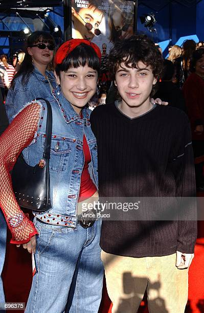 Actors Lalaine and Adam Lamberg attend the premiere of the film Big Fat Liar February 2 2002 at Universal Studios in Los Angeles CA