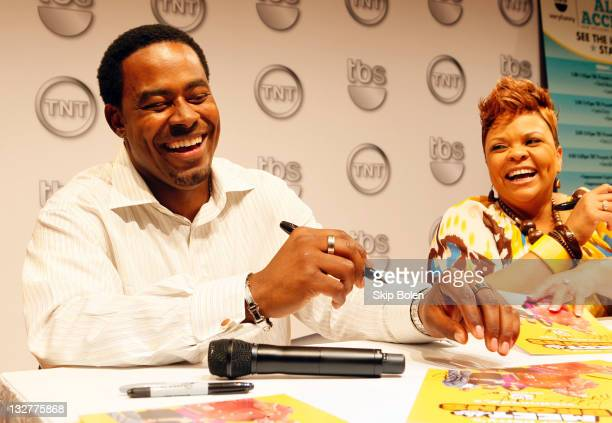 Actors Lamman Rucker and Tamela Mann of the TBS show 'Meet the Browns' attend the TNT 2011 Essence Festival Day 1 on July 1 2011 in New Orleans...