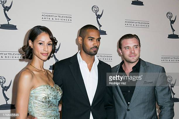 Actors Lamon Archey and Billy Miller arrive at the 40th Annual Daytime Emmy Nominees Cocktail Reception at Montage Beverly Hills on June 13, 2013 in...