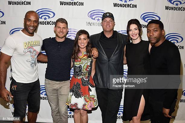 Actors LaMonica Garrett Travis Van Winkle Marissa Neitling Adam Baldwin Bridget Regan and Jocko Sims attend 'The Last Ship' panel TNT at Wondercon...