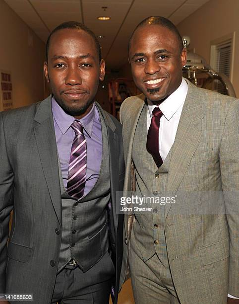 Actors Lamorne Morris and Wayne Brady attend the 20th Anniversary Alzheimer's Association A Night at Sardi's at The Beverly Hilton Hotel on March 21...