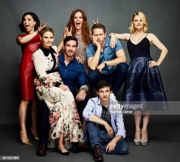 Actors Lana Parrilla Jennifer Morrison Colin O'Donoghue Rebecca Mader Josh Dallas Emilie de Ravin and Jared Gilmore from 'Once Upon a Time' are...