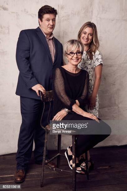 Actors Lance Barber Annie Potts and Zoe Perry of CBS's 'Young Sheldon' pose for a portrait during the 2017 Summer Television Critics Association...
