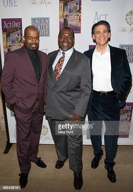 Actors Lance Roberts Chuck Cooper and Bob Stillman attend the opening night party for Act One at The Plaza Hotel on April 17 2014 in New York City