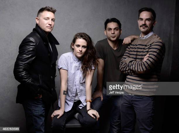 Actors Lane Garrison Kristen Stewart Peyman Moaadi and director Peter Sattler pose for a portrait during the 2014 Sundance Film Festival at the...
