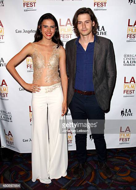 Actors Lara Vosburgh and Morgan McClellan attend the premiere of Inner Demons during the 2014 Los Angeles Film Festival at Regal Cinemas LA Live on...