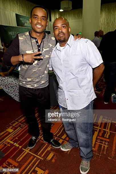 Actors Larenz Tate and Lahmard J Tate attend day 1 of the Radio Broadcast Center during the BET Awards '14 on June 27 2014 in Los Angeles California