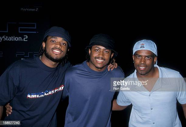Actors Larenz Tate Lehmard Tate and Larron Tate attending One Year Anniversary of Playstation 2 on October 19 2001 at the St Regis Hotel in Century...