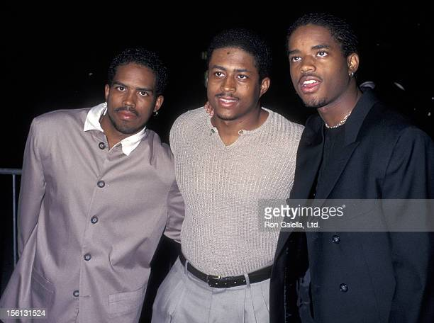 Actors Larron Tate Lahmard Tate and Larenz Tate attending the screening of 'Hoodlum' on August 25 1997 at Magic Johnson Theater in Los Angeles...