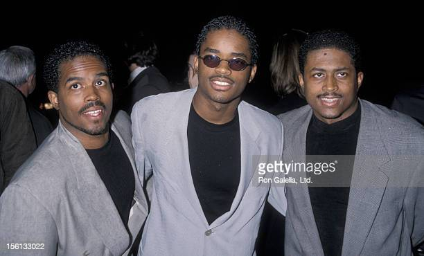 Actors Larron Tate Larenz Tate and Lehmard Tate attending the premiere of 'Bullworth' on May 4 1998 at the Academy Theater in Beverly Hills California