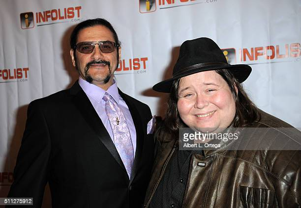 Actors Larry Andrews and EJ Dela Pena arrive for the InfoList PreOscar Soiree And Birthday Party for Jeff Gund held at OHM Nightclub on February 18...