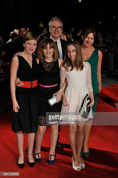 Actors Larry Lamb Eloise Laurence Clare Burt and guests attend the premiere of 'Broken' during the 56th BFI London Film Festival at Odeon West End on...