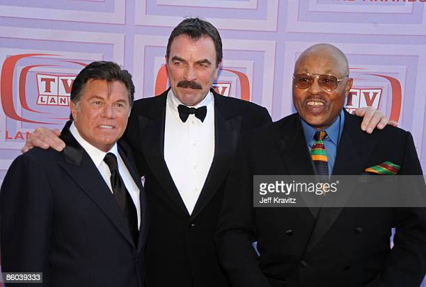 Actors Larry Manetti Tom Selleck and Roger E Mosley of Magnum PI attend the 7th Annual TV Land Awards held at Gibson Amphitheatre on April 19 2009 in...