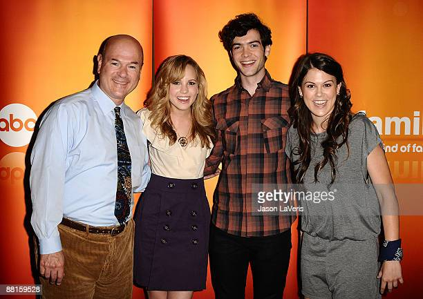 Actors Larry Miller Meaghan Jette Martin Ethan Peck and Lindsey Shaw attend the DATG summer press junket at ABC's Riverside Building on May 30 2009...