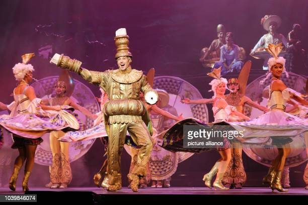 Actors Laszlo Santa as Lefou and other members of the cast of the Budapest Operette and MusicalTheater perform during a photo rehearsal of the...