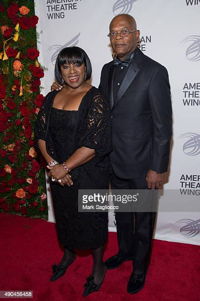 Actors LaTanya Richardson and Samuel L Jackson attend the 2015 American Theatre Wing's Gala at The Plaza Hotel on September 28 2015 in New York City