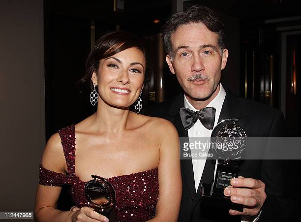 Actors Laura Benanti and Boyd Gaines attend the 62nd Annual Tony Awards on June 15 2008 at the Rainbow Room in New York