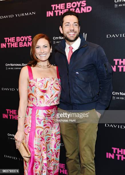Actors Laura Benanti and Zachary Levi attend the 'Boys In The Band' 50th Anniversary Celebration at Booth Theatre on May 30 2018 in New York City