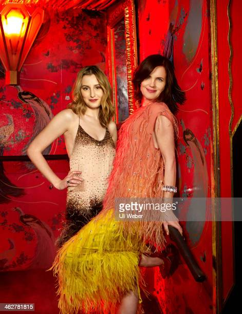 Actors Laura Carmichael and Elizabeth McGovern are photographed for Grazia UK on December 5, 2013 in London, England.