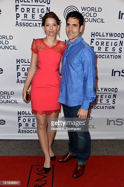Actors Laura Carswell and Ben Bass arrive at the 13th Annual InStyle And The Hollywood Foreign Press Association's Toronto International Film...