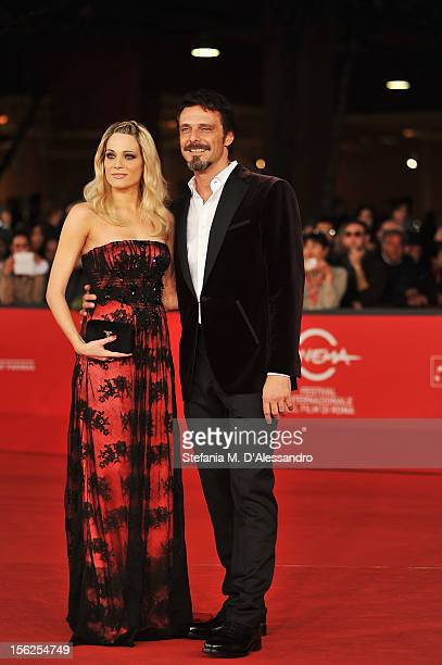 Actors Laura Chiatti and Alessandro Preziosi attend the 'Il Volto Di Un'Altra' Premiere during the 7th Rome Film Festival at the Auditorium Parco...