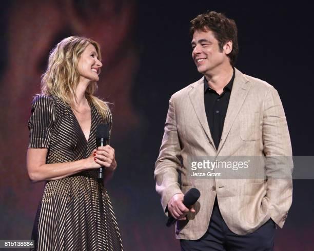 Actors Laura Dern and Benicio del Toro of STAR WARS THE LAST JEDI took part today in the Walt Disney Studios live action presentation at Disney's D23...