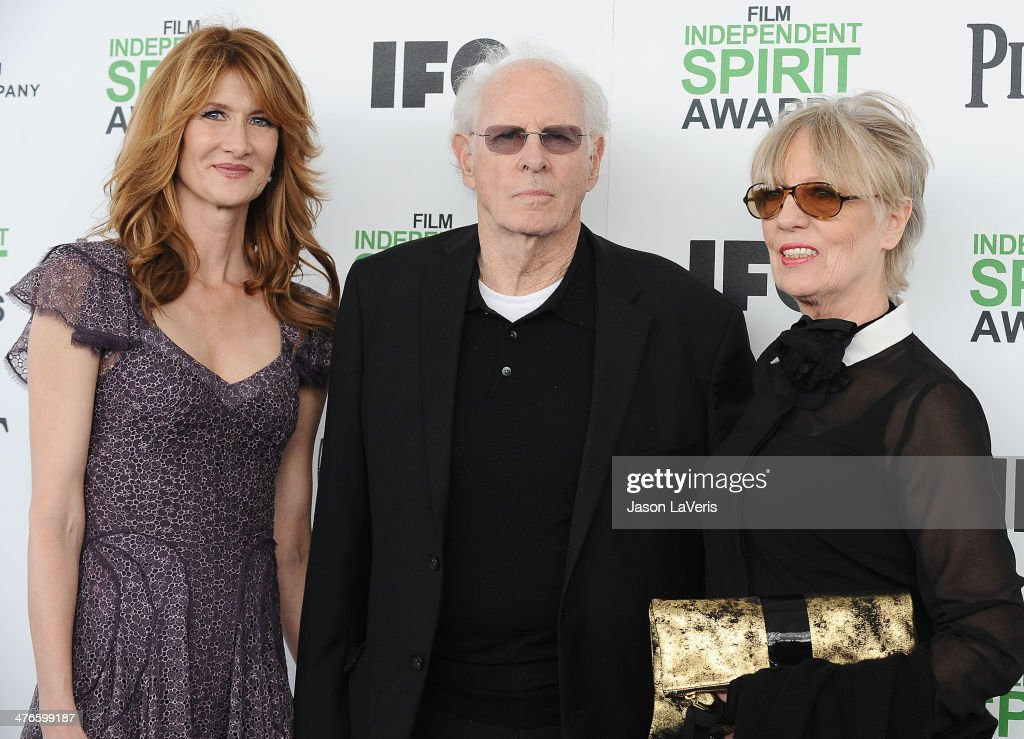 Actors Laura Dern and Bruce Dern, and his wife Andrea Beckett attend the 2014 Film Independent Spirit Awards on March 1, 2014 in Santa Monica, California.