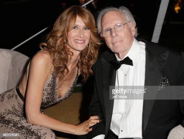 Actors Laura Dern and Bruce Dern attend The Weinstein Company Netflix's 2014 Golden Globes After Party presented by Bombardier FIJI Water Lexus Laura...