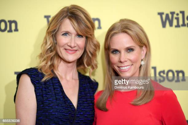 Actors Laura Dern and Cheryl Hines attend the Wilson New York Screening at the Whitby Hotel on March 19 2017 in New York City