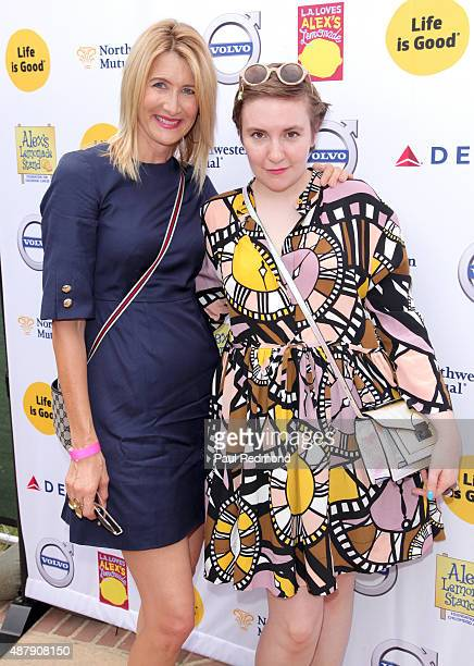 Actors Laura Dern and Lena Dunham attend the 6th Annual L.A. Loves Alex's Lemonade at UCLA on September 12, 2015 in Los Angeles, California.