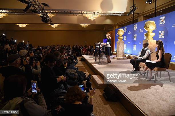 Actors Laura Dern Don Cheadle and Anna Kendrick attend Moet Chandon toast to the 74th Annual Golden Globe Awards nominations on December 12 2016 in...