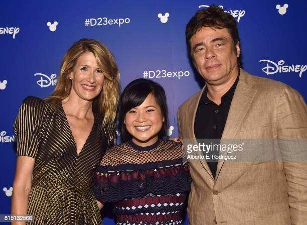 Actors Laura Dern Kelly Marie Tran and Benicio del Toro of STAR WARS THE LAST JEDI took part today in the Walt Disney Studios live action...