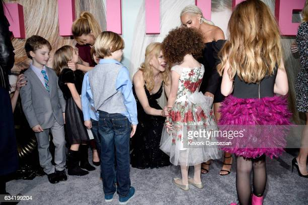 Actors Laura Dern Nicole Kidman Zoe Kravitz Ian Armitage Ivy George Cameron Crovetti Nicholas Crovetti Chloe Coleman and Darby Camp attend the...
