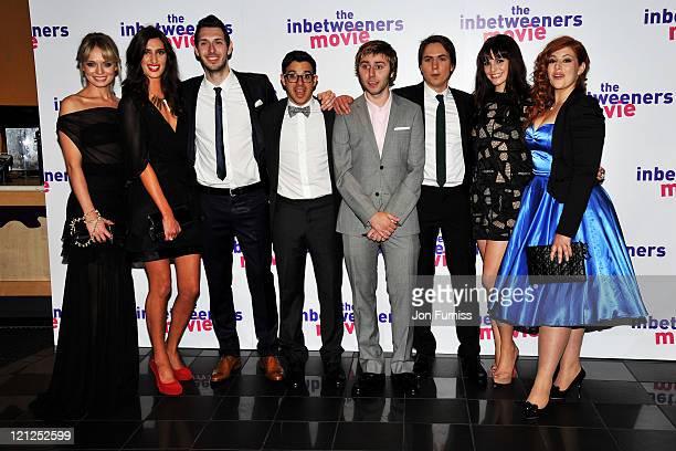 Actors Laura Haddock, Jessica Knappett, Blake Harrison, Simon Bird, James Buckley, Joe Thomas, Tamla Kari and Lydia Rose Bewley attend the...