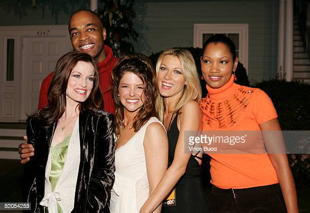 Actors Laura Leighton Rick Worth AJ Langer Natalie Zea and Garcelle BeauvaisNilon arrive at the ABC's Winter Press Tour Party on Wisteria Lane on...