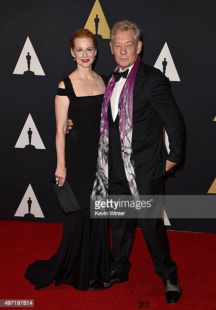Actors Laura Linney and Ian McKellen attend the Academy of Motion Picture Arts and Sciences' 7th annual Governors Awards at The Ray Dolby Ballroom at...