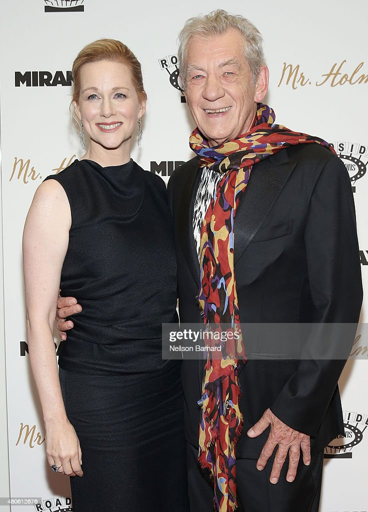 Actors Laura Linney and Ian McKellen attend the New York premiere of 'Mr. Holmes' at Museum of Modern Art on July 13, 2015 in New York City.