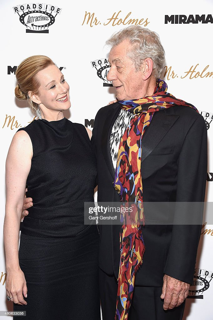 Actors Laura Linney and Sir Ian McKellen attend the 'Mr. Holmes' New York Premiere at the Museum of Modern Art on July 13, 2015 in New York City.