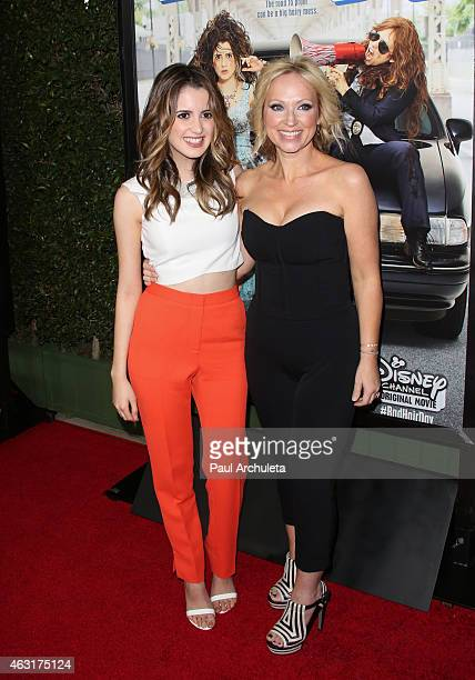 Actors Laura Marano and LeighAllyn Baker attend the Los Angeles premiere of 'Bad Hair Day' a Disney Channel original movie at Walt Disney Studios on...