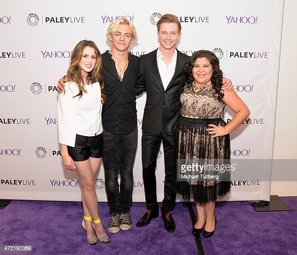 Actors Laura Marano Ross Lynch Calum Worthy and Raini Rodriguez attend a special screening of Disney Channel's 'Austin Ally' as part of Family Night...